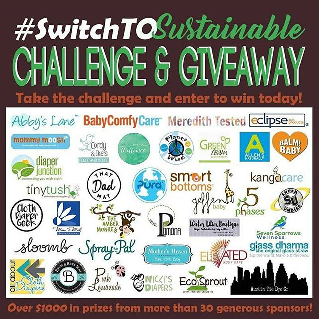 have you seen these amazing brands for the #switchtosustainable giveaway?? hint:: we're one of them!  don't forget to enter!  https://goo.gl/Gg2THc  #sustainable #switchtosustainable #zerowaste #challenge #giveaway #plasticfree #plasticfreejuly #eco #treehugger @clothdiapergeek  @superundies  @smartbottoms @waterliliesboutique  @meredithtested @austintiedyeco  @babycomfycare @pinklemonadesue @purakiki_stainless @theambermonkey @ecosprout @geffenbaby @5phases @sevensparrowswellness_ @tinytushproducts @birdsandbeesteas @elevatedbodycare @balmbaby