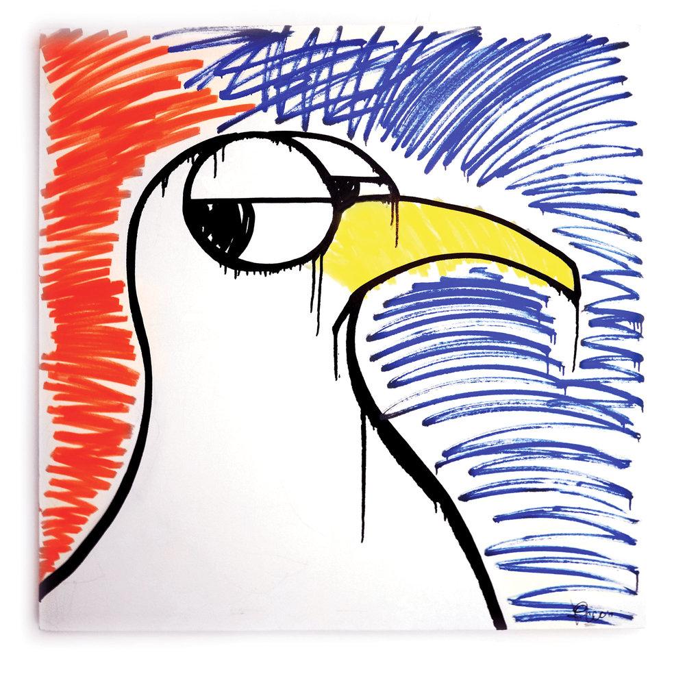 "Gull Krink on Canvas 48""x48"""
