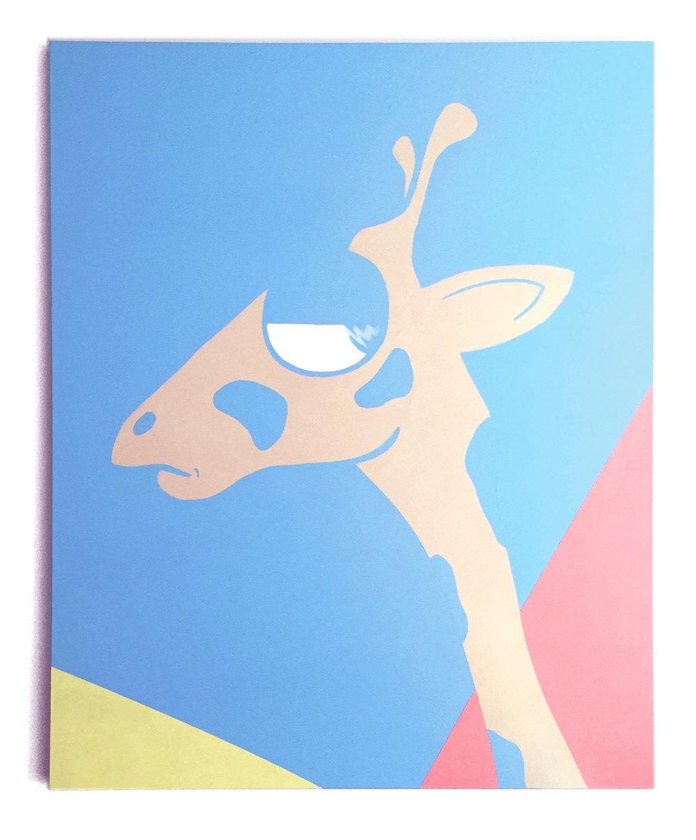 """high horse acrylic on canvas 48 x 60"""""""