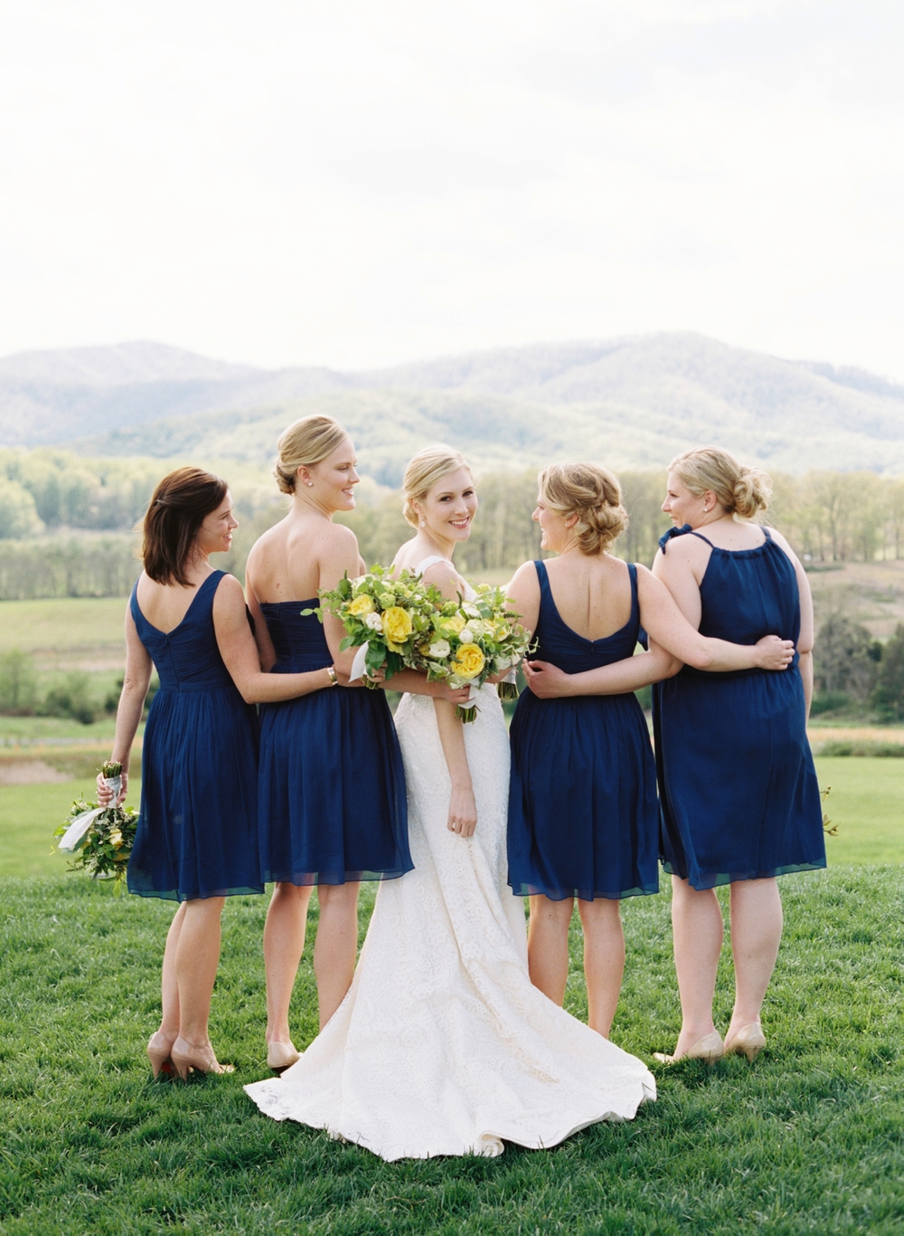 blue-yellow-wedding-dress-bridesmaids