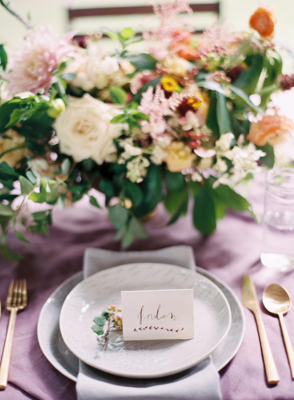 calligraphy colorful spring wedding elisa bricker ginny au