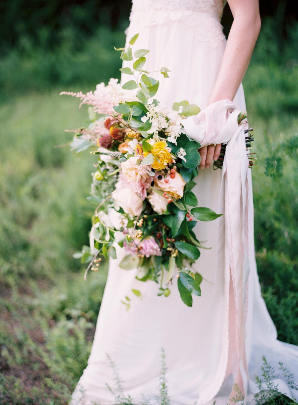 frou frou chic wedding bouquet