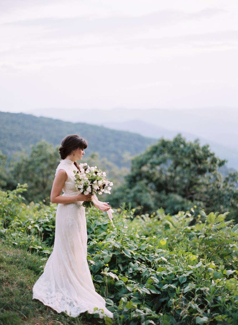 blue ridge mountain virginia bridal portrait elisa bricker