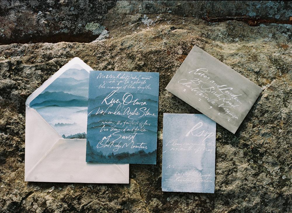 julie song calligraphy wedding invitation elisa bricker