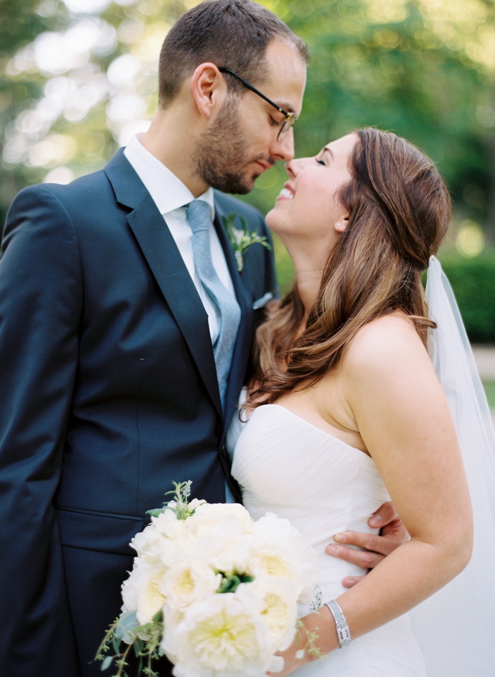blue and white wedding american italian