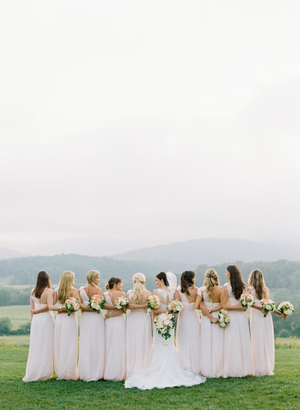 pink-wedding-bridesmaid-dresses