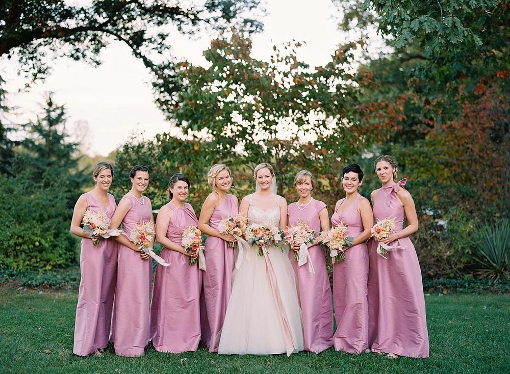 pink-wedding-dress-bridesmaid