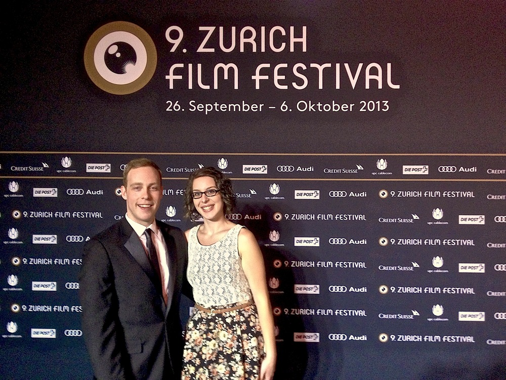 Aaron Kenny with Karina Filipe (Tubist from Australia) on the famed ZFF Green Carpet