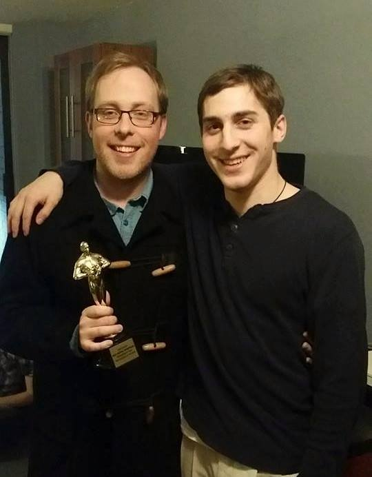 Aaron with Director Brian Blum