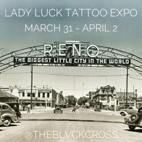 Reno! I will available for tattoos @ladylucktattooexpo this weekend 🎲🎲 #reno #nevada #ladyluck #circuscircus