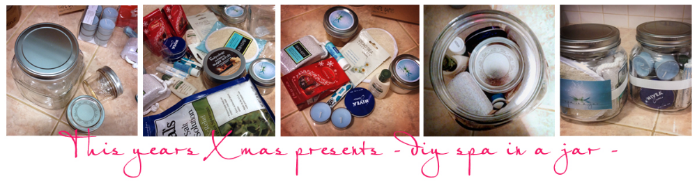 One of my diy Xmas presents this year was to make this great Spa In A Jar pinterest project!   Find it here