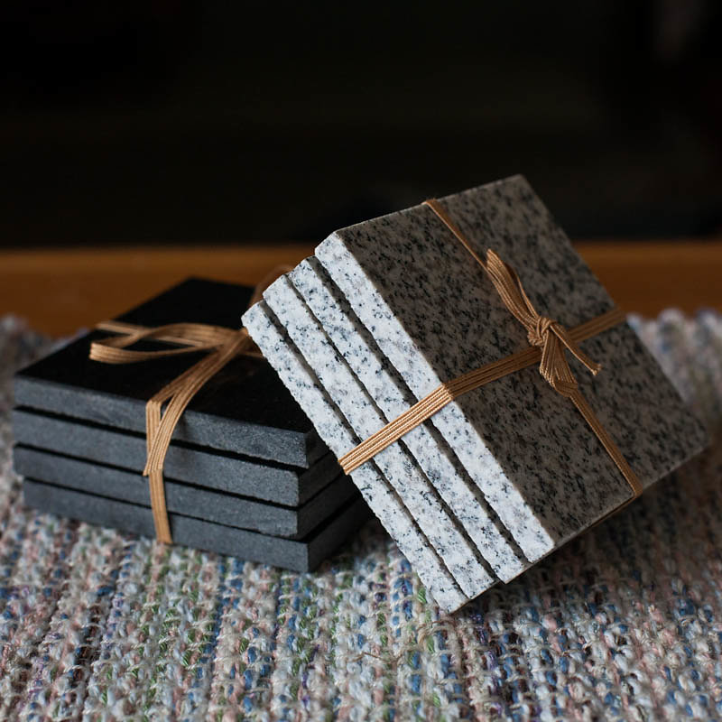Hand Cut Granite Coasters