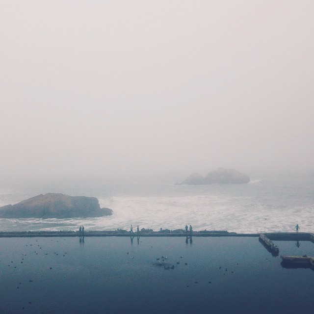 Quiet time at #sutrobaths this morning. This place is exquisite yet eerie at the same time. It may just be my new favorite place in the Bay Area for solitude.