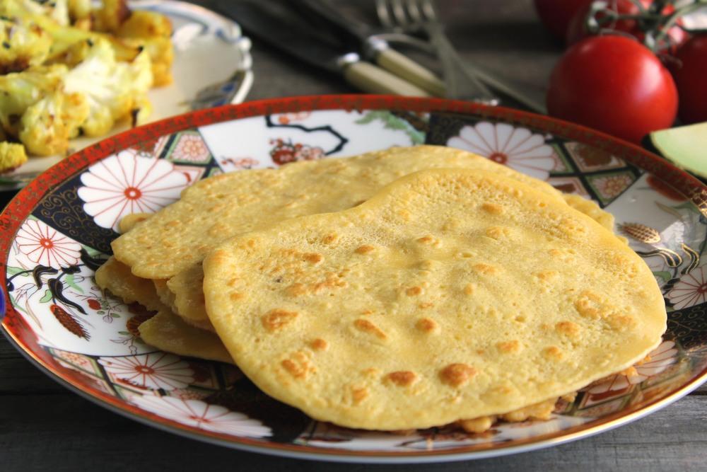 Chickpea flour & paprika flatbread
