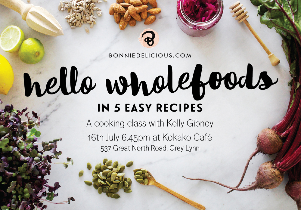Purchase tickets to my upcoming cooking class in Auckland!