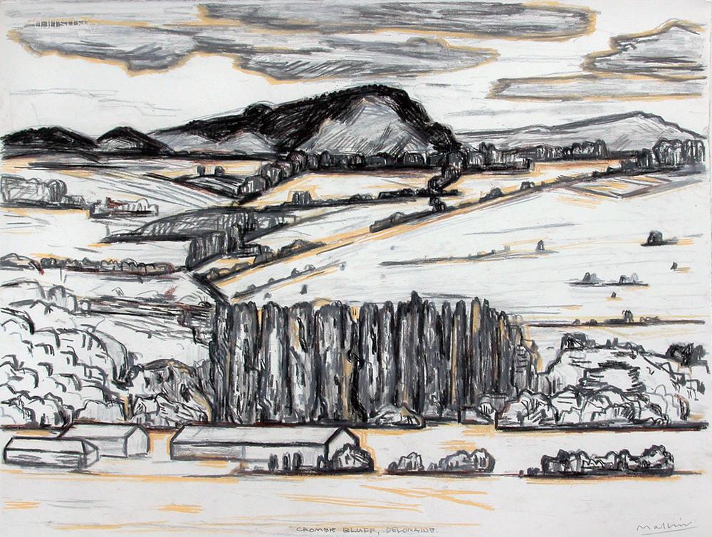 Quambie Bluff, Deloraine  2005  Pastel  56x76cms