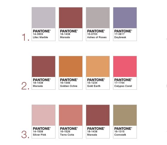 A few suggested color pairings. Source:  pantone.com