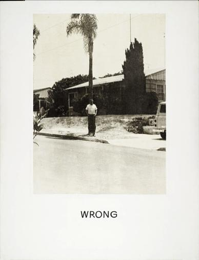 """from  the """"Wrong"""" series  by  John Baldessari"""
