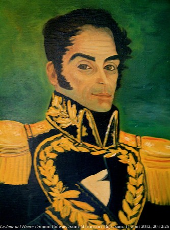 If only you saw his back dimples.  Swoon.  Portrait de Simon Bolivar  by Renaud Camus/ cc