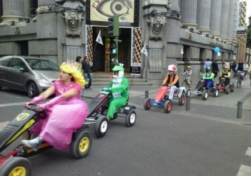 Kevin Rudd as Yoshi, outside the Copenhagen Climate Conference.  Mario Kart by trf_Mr_Hyde/cc