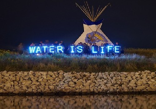 "More meaningful than the original slogan, ""Water is H2O"".  Water is Life  by Light Brigading/ cc"