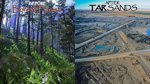 "Heaps better road access ""After Tar Sands"".  Boreal forest and tar sands extraction  by Toban Black/ cc"