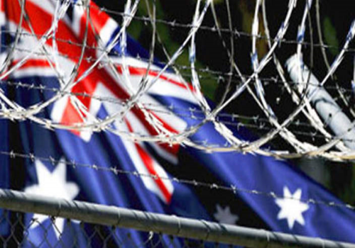 "This is the special ""welcome to Australia"" barbed wire."