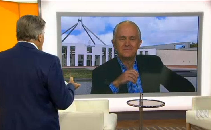 Maclom Turnbull and Barrie Cassidy, on ABC's Insiders program.
