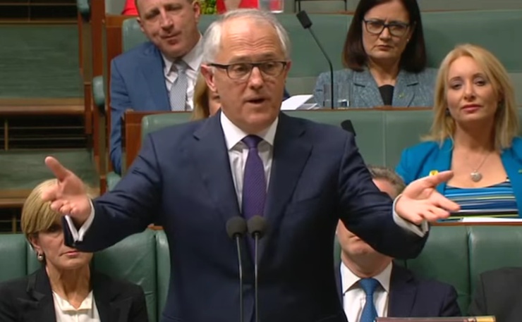 A file image of the Prime Minister of Australia, Malcom Turnbull, during Question Time, 2015