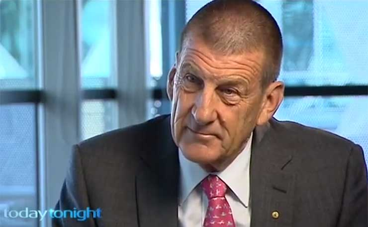 Former Victorian Premier Jeff Kennett, now Chairman of BeyondBlue. (Image: Screengrab, Today Tonight, Channel 7)