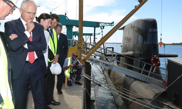 The PM ponders the Great Submarine Shortage of 2016. Photo from SBS.