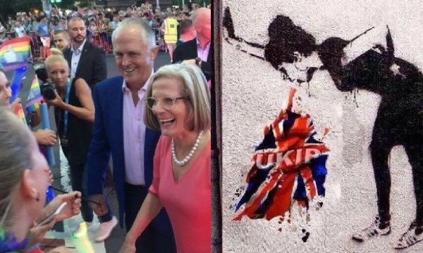 Photo: SMH and Banksy