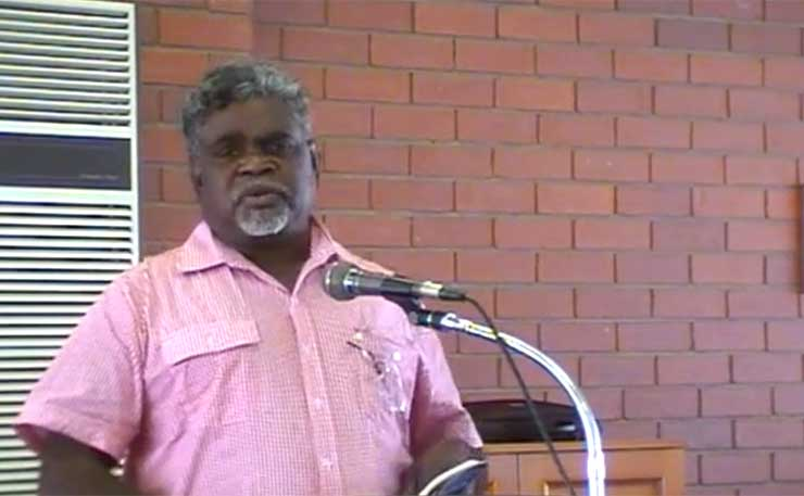 Yingiya Mark Guyala, the new independent Member for Nhulunbuy in the NT Parliament.