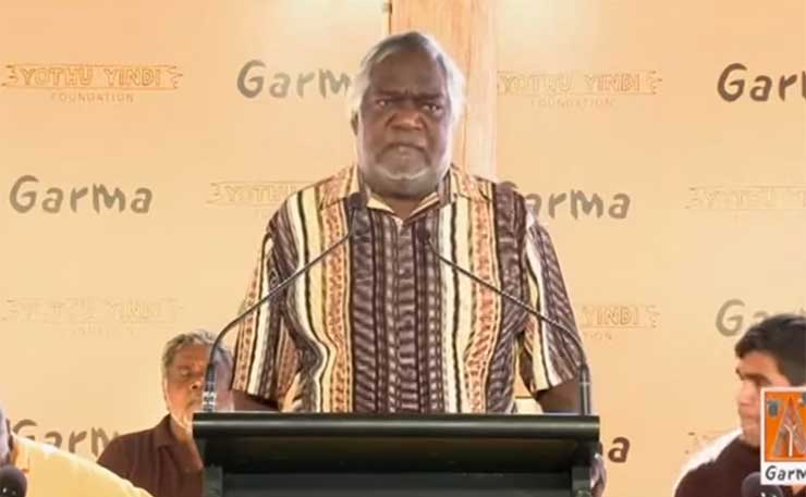 Gumatj clan leader Galarrwuy Yunupingu