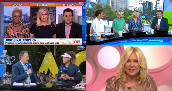 Screencaps from  ABC Comedy ,  Today ,  Storytube , and  Guardian News
