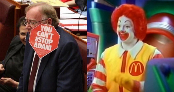Image from  The Townsville Bulletin  and screencap from  The Wacky Adventures of Ronald McDonald