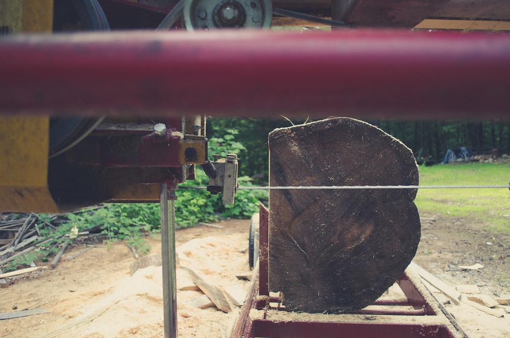 Sawmill, Pine Log