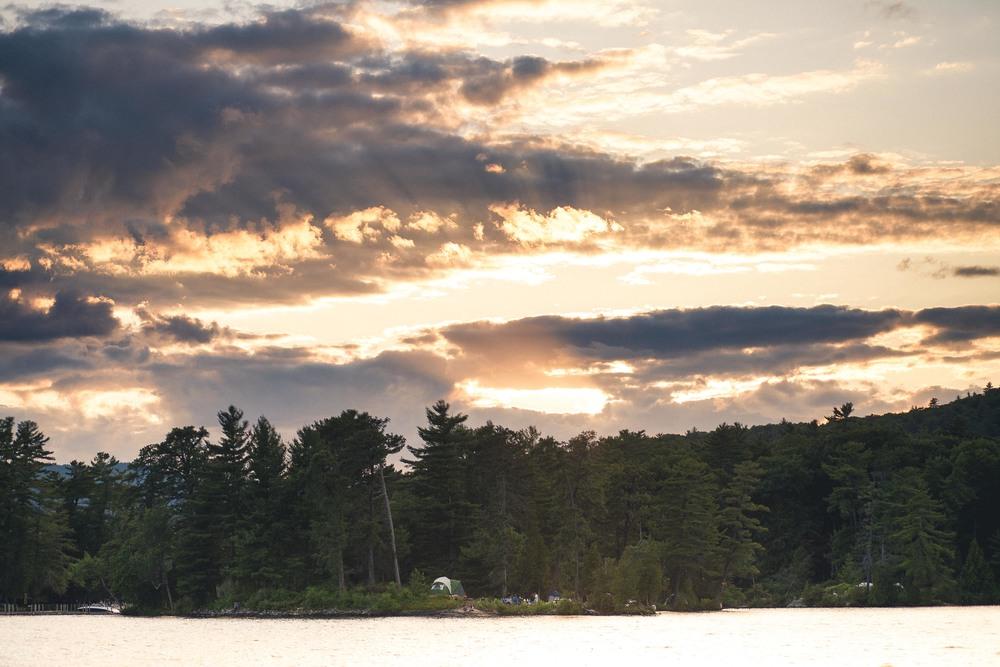 Sunset on Hermit Island