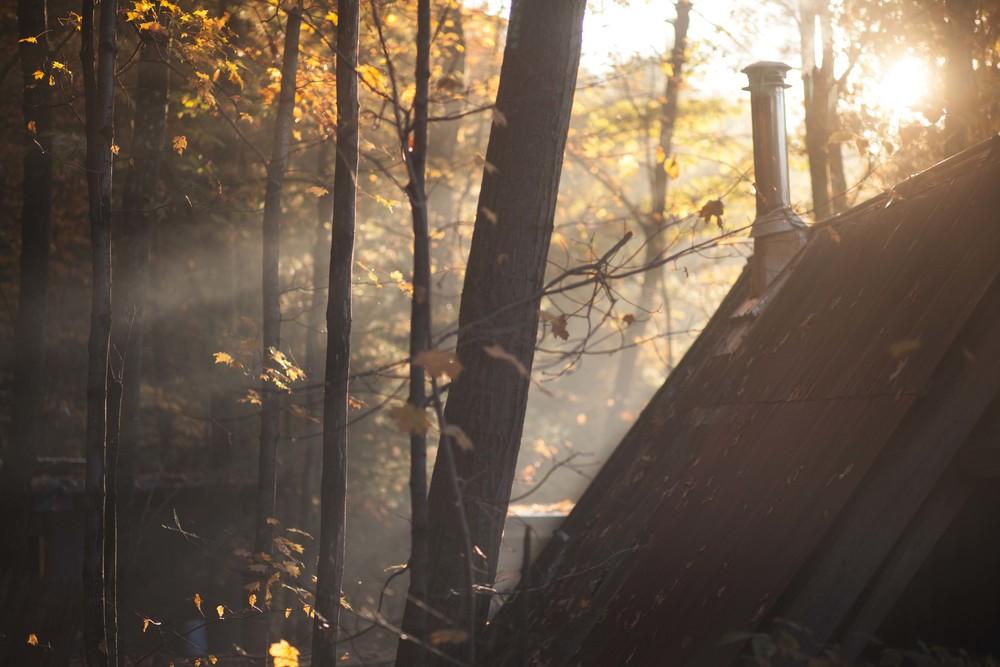 Shack Chimney Smoke