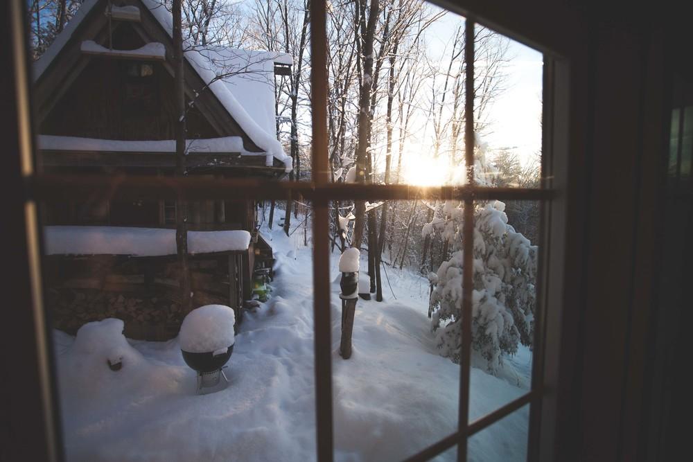Shack in Snow