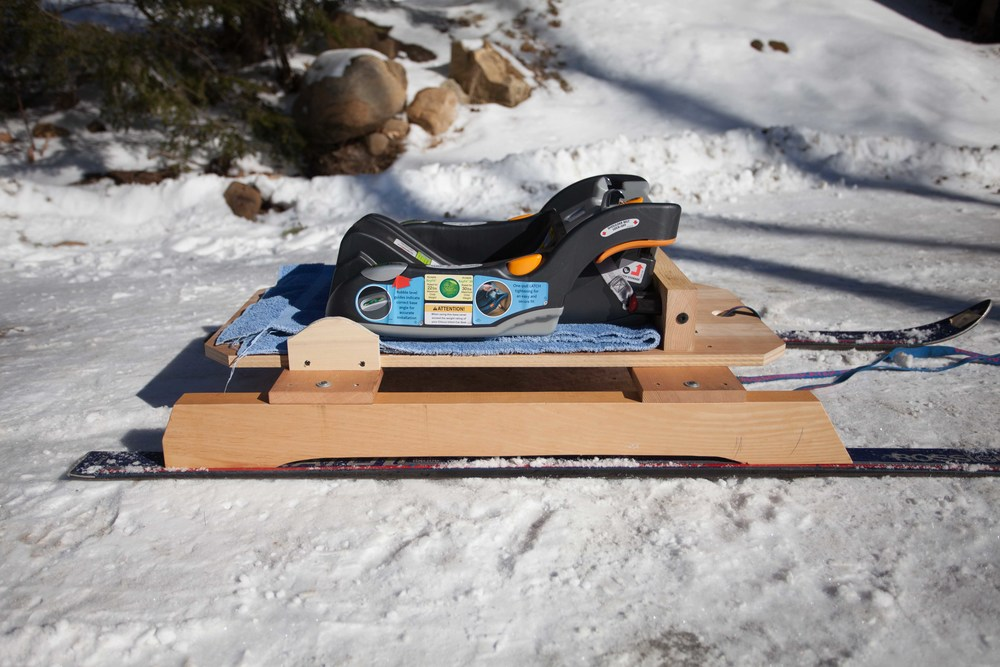 Homemade Baby Sled — ShackValley • David E Cummings