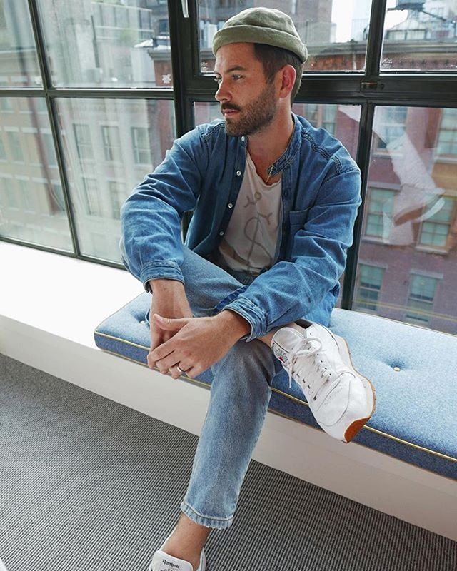 NEW YORK // @stevie_hendrix in our organic anchor tee during #NYFW ・・・ #Repost #tgrshrk #sustainablefashion #fashionweek #menstyle