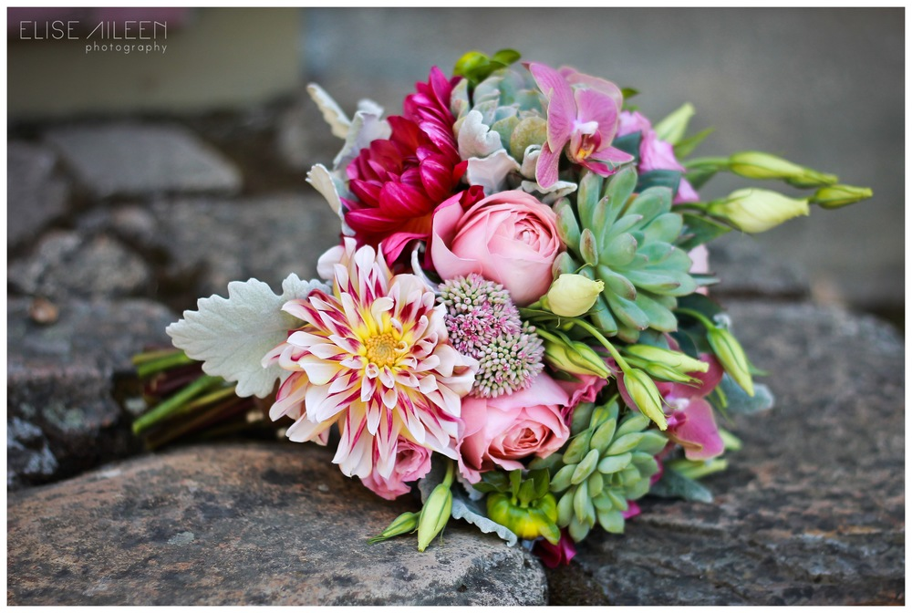 The bride's bouquet by City 205 flowers.