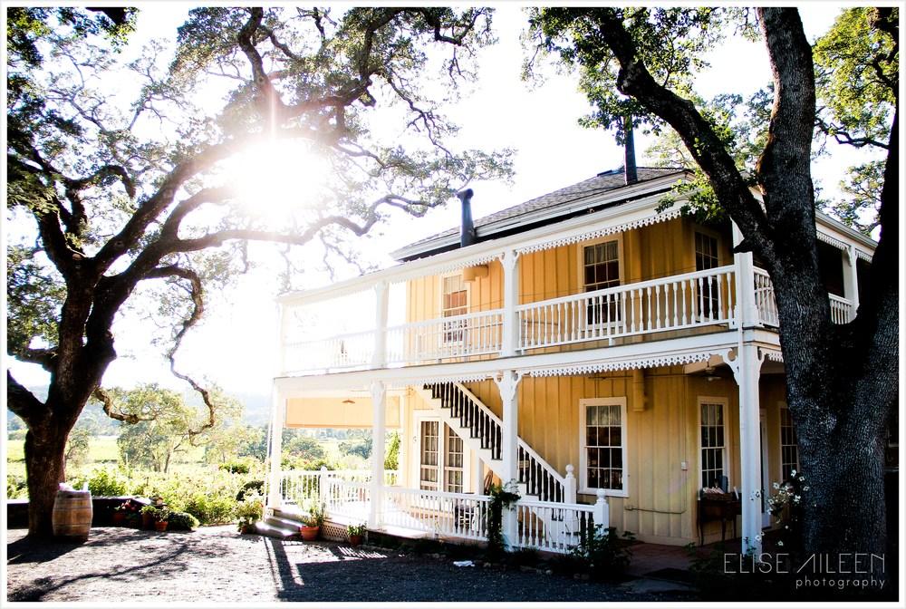 The beautiful location: Beltane Ranch, Glen Ellen