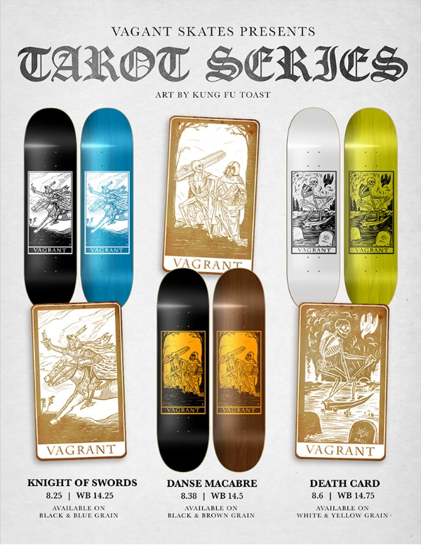 Tarot Series by Kung Fu Toast x Vagrant Skates