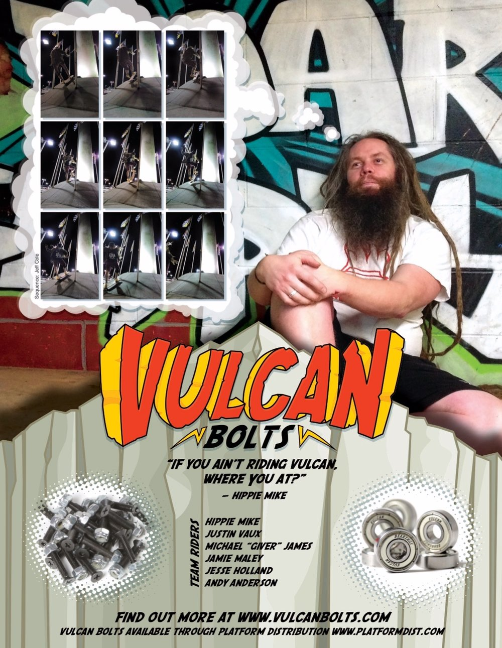 Vulcan Bolts ad in King Skate Mag