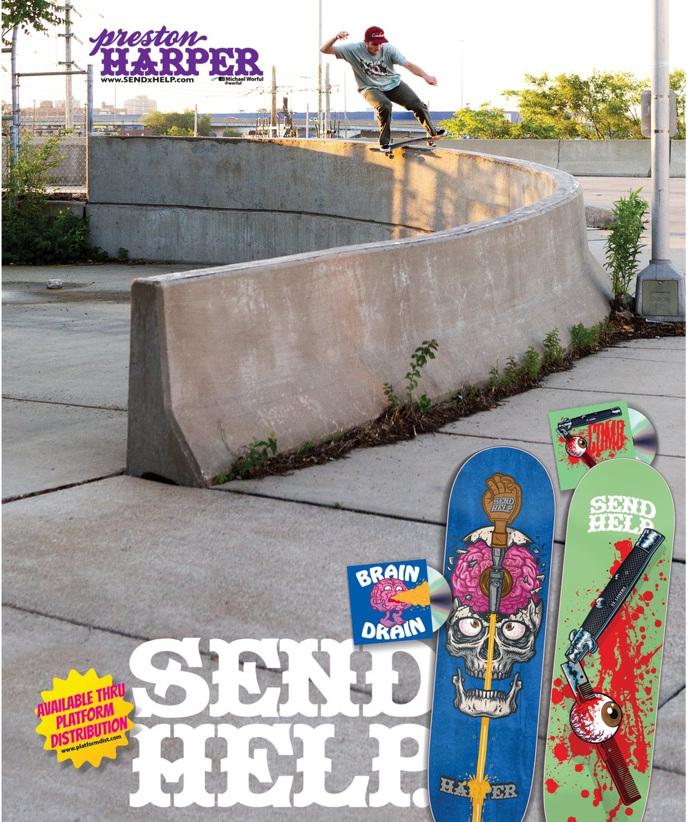 Preston Harper taking the curve in King Skate magazine