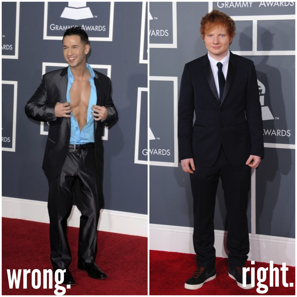 "(L) Mike ""The Situation"" Sorrentino // (R) Ed Sheeran"