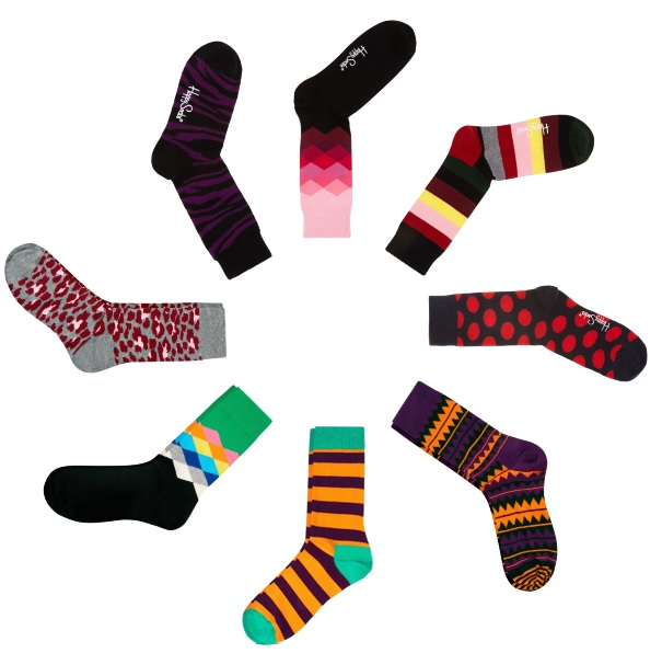 All socks from  Happy Socks