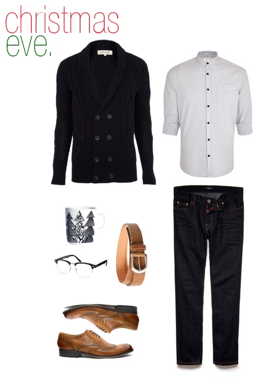 sweater & shirt-  Topman   jeans-  21Men   belt, shoes, & glasses-  ASOS